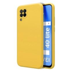 Funda Silicona Líquida Ultra Suave para Huawei P40 Lite color Amarilla