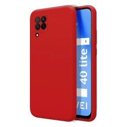 Funda Silicona Líquida Ultra Suave para Huawei P40 Lite color Roja