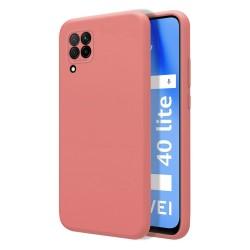 Funda Silicona Líquida Ultra Suave para Huawei P40 Lite color Rosa