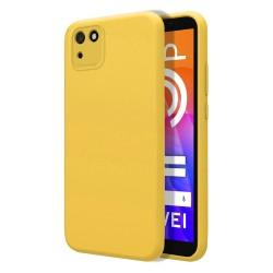 Funda Silicona Líquida Ultra Suave para Huawei Y5p color Amarilla