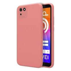 Funda Silicona Líquida Ultra Suave para Huawei Y5p color Rosa