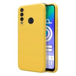 Funda Silicona Líquida Ultra Suave para Huawei Y6p color Amarilla