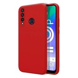 Funda Silicona Líquida Ultra Suave para Huawei Y6p color Roja