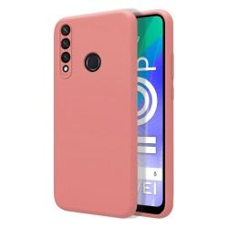 Funda Silicona Líquida Ultra Suave para Huawei Y6p color Rosa