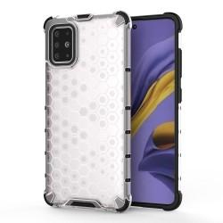 Funda Tipo Honeycomb Armor (Pc+Tpu) Transparente para Samsung Galaxy A51