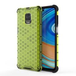 Funda Tipo Honeycomb Armor (Pc+Tpu) Verde para Xiaomi Redmi Note 9S / Note 9 Pro