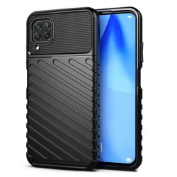 Funda Gel Flexible Thunder Armor Rugged para Huawei P40 Lite color Negra