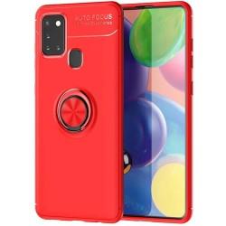 Funda Magnetica Soporte con Anillo Giratorio 360 para Samsung Galaxy A21s Roja