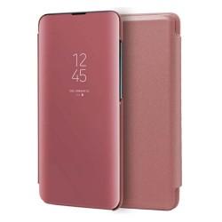 Funda Flip Cover Clear View para Xiaomi Redmi Note 9S / Note 9 Pro color Rosa