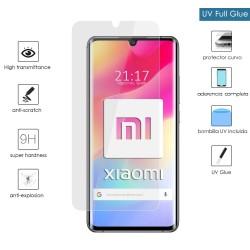 Protector Cristal Templado Completo Curvo UV Full Glue para Xiaomi Mi Note 10 Lite