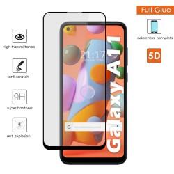 Protector Cristal Templado Completo 5D Full Glue Negro para Samsung Galaxy A11 / M11 Vidrio