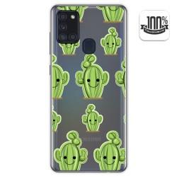 Funda Gel Transparente para Samsung Galaxy A21s diseño Cactus Dibujos