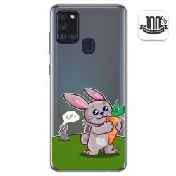 Funda Gel Transparente para Samsung Galaxy A21s diseño Conejo Dibujos