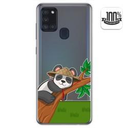 Funda Gel Transparente para Samsung Galaxy A21s diseño Panda Dibujos