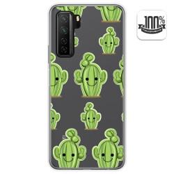 Funda Gel Transparente para  Huawei P40 Lite 5G diseño Cactus Dibujos