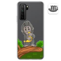 Funda Gel Transparente para  Huawei P40 Lite 5G diseño Mono Dibujos
