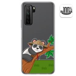 Funda Gel Transparente para  Huawei P40 Lite 5G diseño Panda Dibujos