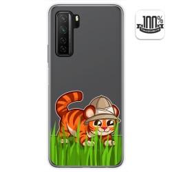 Funda Gel Transparente para  Huawei P40 Lite 5G diseño Tigre Dibujos