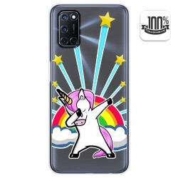 Funda Gel Transparente para Oppo A52 / Oppo A72 diseño Unicornio Dibujos