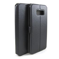 Funda Soporte Piel Negra para Samsung Galaxy S8 Flip Libro