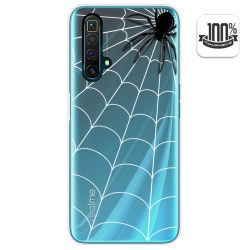 Funda Gel Transparente para Realme X3 SuperZoom / X50 5G diseño Araña Dibujos