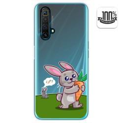 Funda Gel Transparente para Realme X3 SuperZoom / X50 5G diseño Conejo Dibujos