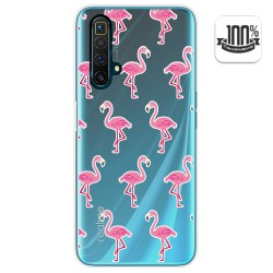Funda Gel Transparente para Realme X3 SuperZoom diseño Flamenco Dibujos