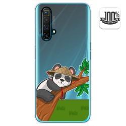 Funda Gel Transparente para Realme X3 SuperZoom diseño Panda Dibujos
