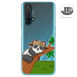 Funda Gel Transparente para Realme X3 SuperZoom / X50 5G diseño Panda Dibujos