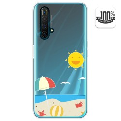 Funda Gel Transparente para Realme X3 SuperZoom diseño Playa Dibujos