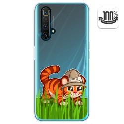 Funda Gel Transparente para Realme X3 SuperZoom / X50 5G diseño Tigre Dibujos