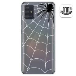 Funda Gel Transparente para Samsung Galaxy A51 5G diseño Araña Dibujos