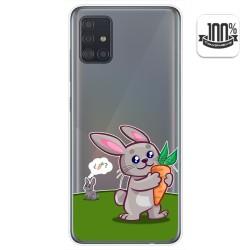 Funda Gel Transparente para Samsung Galaxy A51 5G diseño Conejo Dibujos