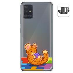 Funda Gel Transparente para Samsung Galaxy A51 5G diseño Leopardo Dibujos