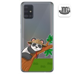 Funda Gel Transparente para Samsung Galaxy A51 5G diseño Panda Dibujos