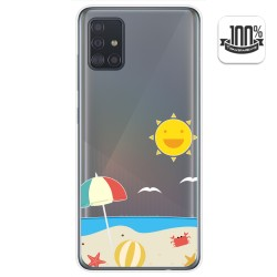 Funda Gel Transparente para Samsung Galaxy A51 5G diseño Playa Dibujos