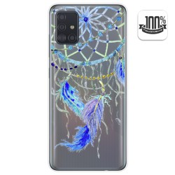 Funda Gel Transparente para Samsung Galaxy A51 5G diseño Plumas Dibujos