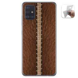 Funda Gel Tpu para Samsung Galaxy A51 5G diseño Cuero 01 Dibujos