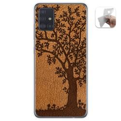 Funda Gel Tpu para Samsung Galaxy A51 5G diseño Cuero 03 Dibujos