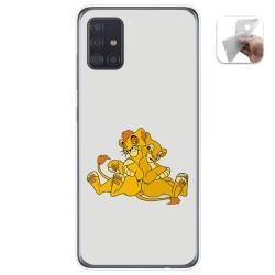 Funda Gel Tpu para Samsung Galaxy A51 5G diseño Leones Dibujos