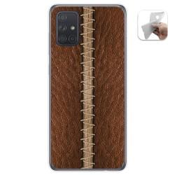 Funda Gel Tpu para Samsung Galaxy A71 5G diseño Cuero 01 Dibujos