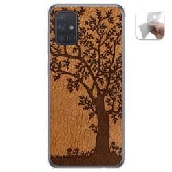 Funda Gel Tpu para Samsung Galaxy A71 5G diseño Cuero 03 Dibujos
