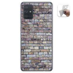 Funda Gel Tpu para Samsung Galaxy A71 5G diseño Ladrillo 02 Dibujos