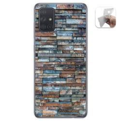 Funda Gel Tpu para Samsung Galaxy A71 5G diseño Ladrillo 05 Dibujos