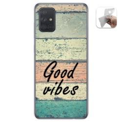 Funda Gel Tpu para Samsung Galaxy A71 5G diseño Madera 01 Dibujos