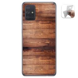 Funda Gel Tpu para Samsung Galaxy A71 5G diseño Madera 02 Dibujos