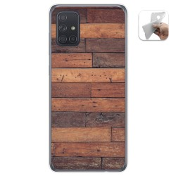 Funda Gel Tpu para Samsung Galaxy A71 5G diseño Madera 03 Dibujos