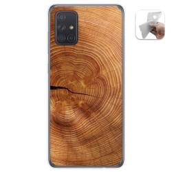 Funda Gel Tpu para Samsung Galaxy A71 5G diseño Madera 04 Dibujos