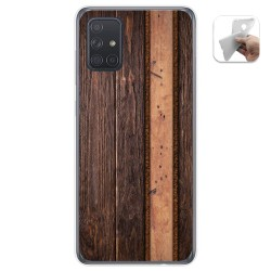 Funda Gel Tpu para Samsung Galaxy A71 5G diseño Madera 05 Dibujos