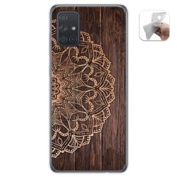 Funda Gel Tpu para Samsung Galaxy A71 5G diseño Madera 06 Dibujos